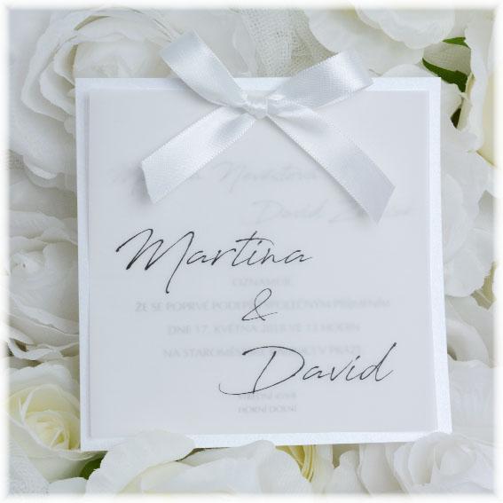 svatební oznámení průhledné