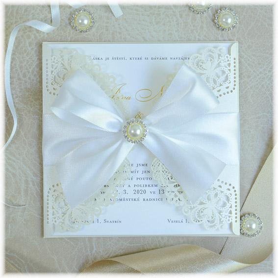 Svatební oznámení s krajkou