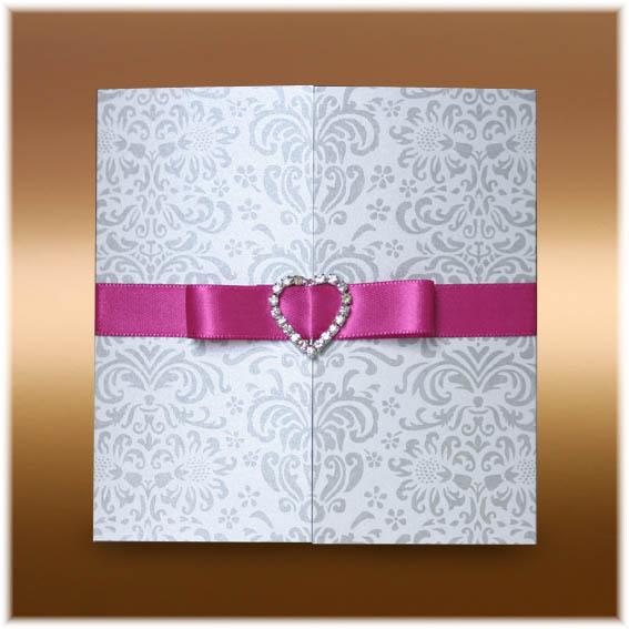 Svatební oznámení s mašlí